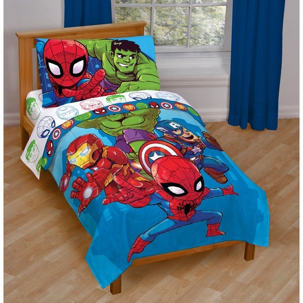 Shop Marvel Heroes Amigos Toddler Bed Set Free Shipping