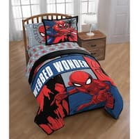 Marvel Spiderman Webbed Wonder Twin Comforter with Sham Set