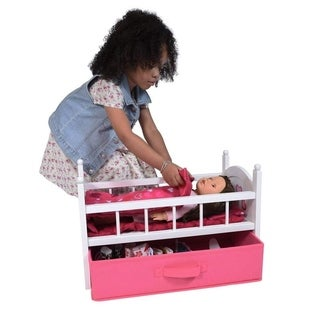 Doll crib with drawer