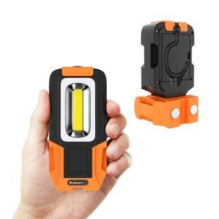 COB LED Work Light Flashlight With Magnetic Base & Rotating Hanging Hook- 200 Lumen, 100,000 Hour by Stalwart - Black