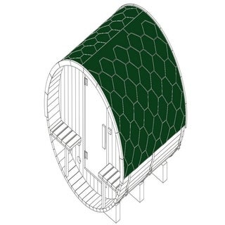"ALEKO Shingle Bitumen Replacement or Upgrade Roof Set for 60""x72""x75"""