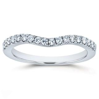Annello By Kobelli 14k Gold 1 5ct TDW DEF VS Lab Grown Diamond Women S Curved Wedding Band