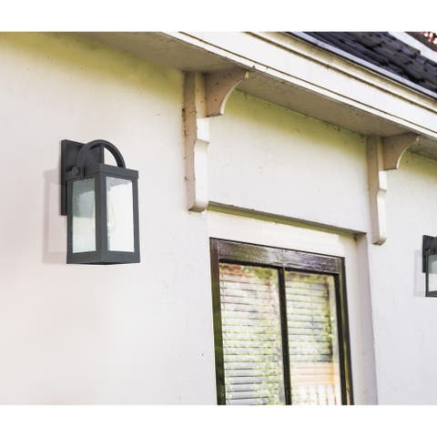 Eglo Cider Mill Matte Black Outdoor Wall Light