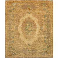 eCarpetGallery  Hand-knotted Royal Ushak Tan Wool Rug - 8'3 x 9'10