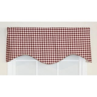 RLF Home Picnic Check Cornice Window Valance - Red