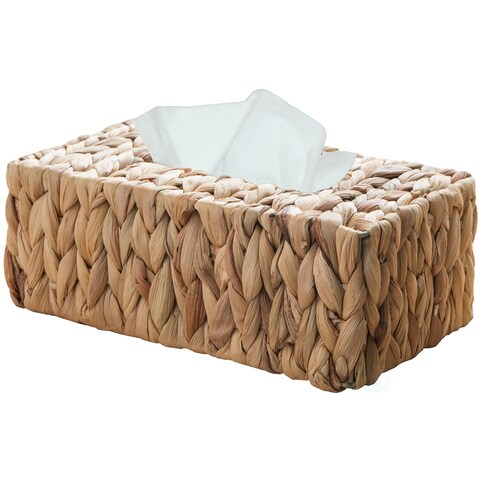 Wicker Water Hyacinth Tissue Box Cover Rectangle