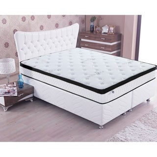 OttoPEDIC 10 Inch Euro Top Full Size Pocket Spring Mattress - N/A