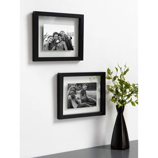 DesignOvation Gallery Float Glass Picture Frame Set