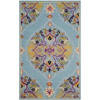 """Safavieh Bellagio Handmade Boho Medallion Light Blue/ Multi Wool Rug - 8'9"""" x 12'"""