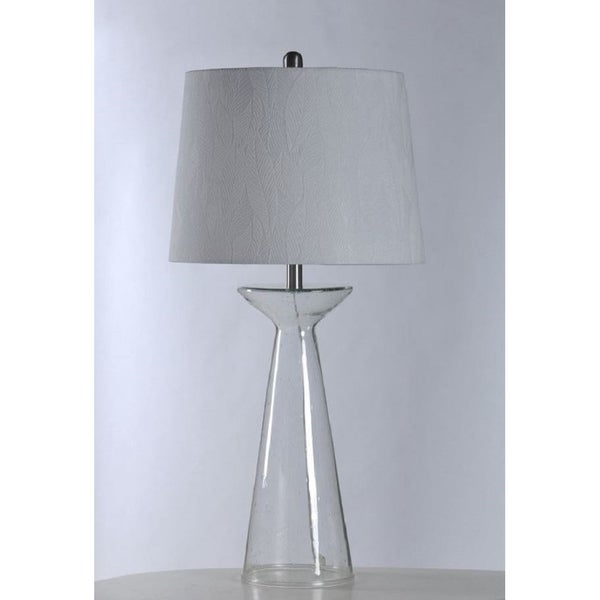 Stylecraft Seeded Gl Table Lamp With Shade