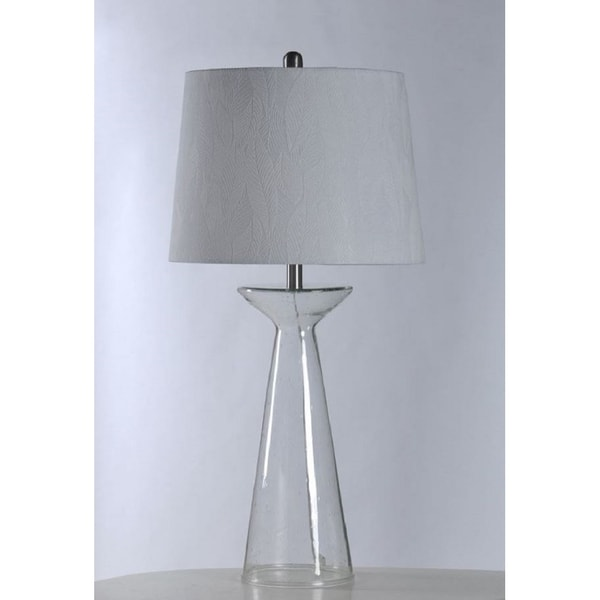 Shop Stylecraft Seeded Glass Table Lamp With Shade Free Shipping