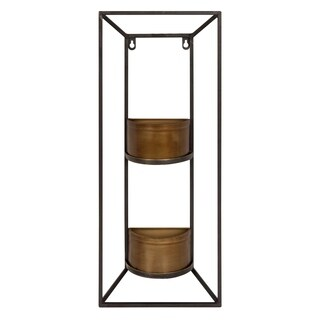 Kate and Laurel Neil Copper Metal Wall Planter