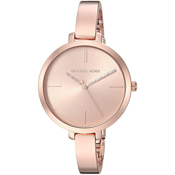 Michael Kors Women S Jaryn Rose Gold Stainless Steel Bangle Bracelet Watch