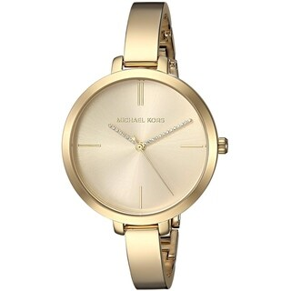 Michael Kors Women's Jaryn Gold Stainless Steel Bangle Bracelet Watch