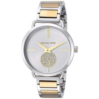 Michael Kors Women's Portia Silver Dial Two-Tone Stainless Steel Bracelet Watch