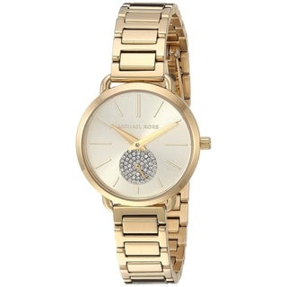 Link to Michael Kors Women's  Portia Gold Stainless Steel Bracelet Watch Similar Items in Women's Watches