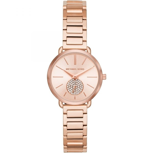Michael Kors Women's Portia Rose Gold Stainless Steel Bracelet Watch. Opens flyout.