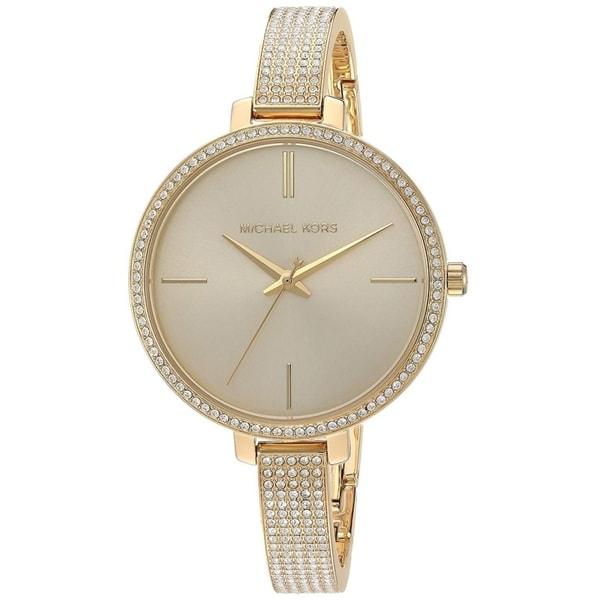 e288d5e4c906 Shop Michael Kors Women s Jaryn Crystal Pave Gold Stainless Steel Bangle  Bracelet Watch - Free Shipping Today - Overstock - 22718397