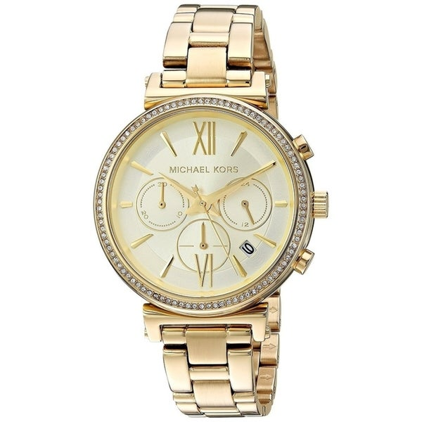 53c86c179 Shop Michael Kors Women's Sofie Chronograph Gold Stainless Steel Bracelet  Watch - Free Shipping Today - Overstock - 22718399