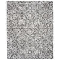 Safavieh Handmade Abstract Contemporary Grey / Ivory Wool Rug - 9' x 12'