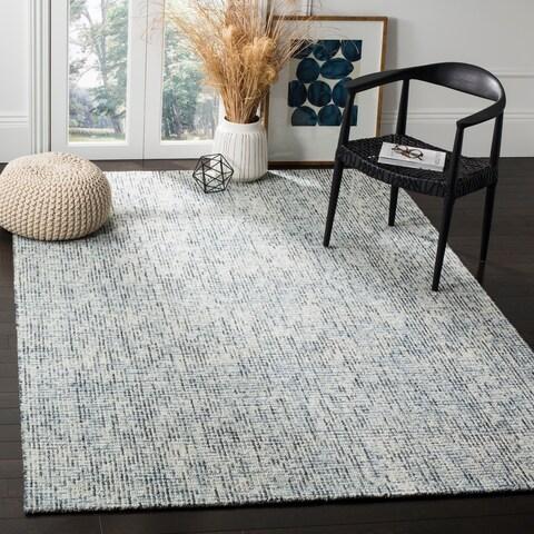 Safavieh Handmade Abstract Contemporary Blue / Charcoal Wool Rug - 9' x 12'