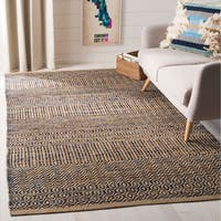 Safavieh Handmade Cape Cod Contemporary Geometric Navy / Natural Jute Rug - 8' x 10'