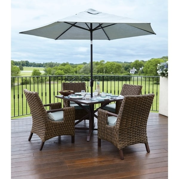 shop living accents brown estate square dining table free shipping rh overstock com living accents patio furniture reviews living accents outdoor patio furniture