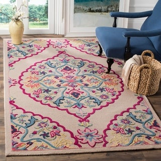 Safavieh Handmade Bellagio Contemporary Oriental Light Pink Wool Rug - 6' x 9'