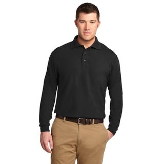 Port Authority Mens Long Sleeve Silk Touch Polo (K500LS)