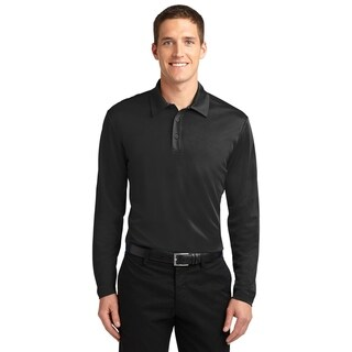 Port Authority Mens Silk Touch Performance Long Sleeve Polo (K540LS)