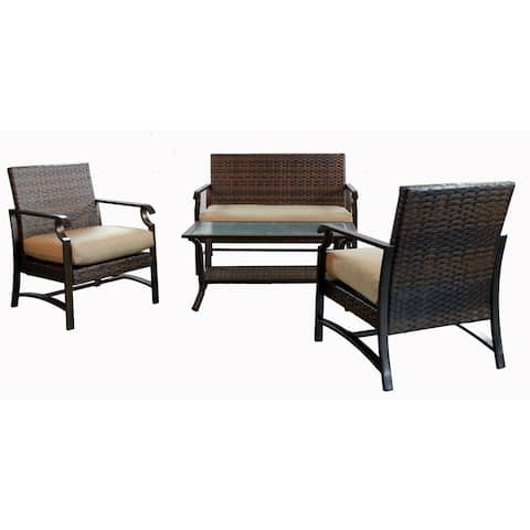 Tustin 4 Piece Conversation Group with Cushion