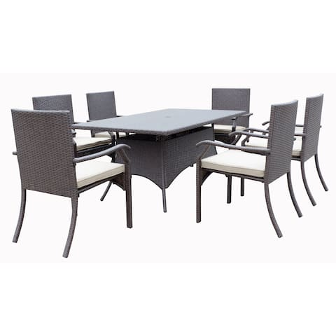 Azusa 7 Piece Dining Group with Cushion