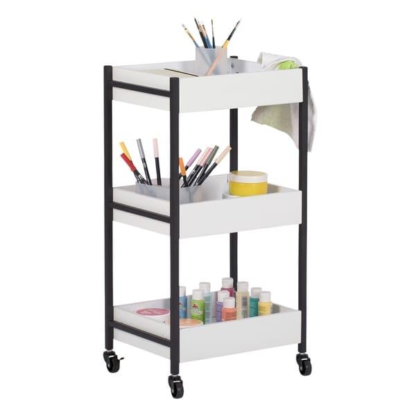 Shop Studio Designs 3 Bin Rolling Storage Cart - On Sale