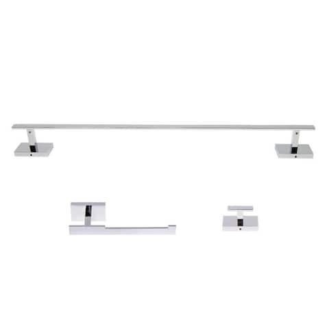 Italia Genoa Series 3 Piece Polished Chrome Bathroom Accessory Set