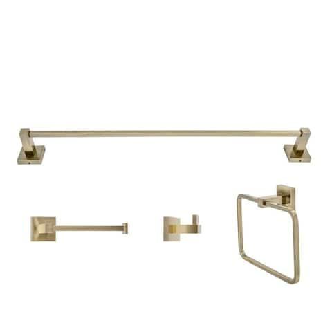 Italia Capri Series Bronze 4 Piece Bathroom Accessory Set