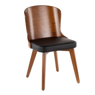 Carson Carrington Valsbo Walnut/Faux Leather Chair