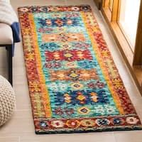 "Safavieh Handmade Aspen Bohemian Southwestern Blue / Red Wool Rug - 2'3"" x 5'"