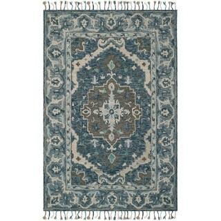 Safavieh Handmade Aspen Bohemian Southwestern Dark Blue / Grey Wool Rug - 6' x 9'