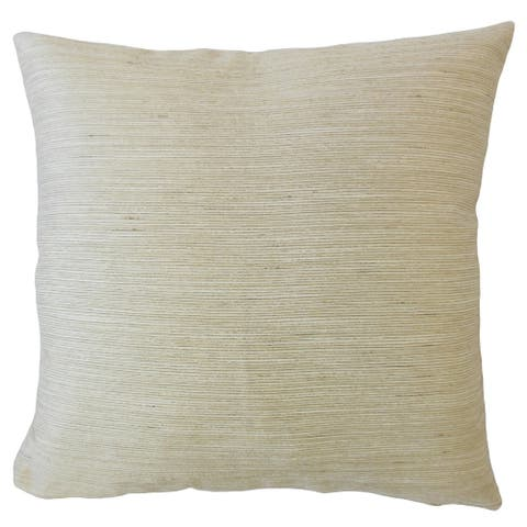 Jarlath Solid Throw Pillow Flax