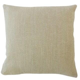 Ramlah Striped Throw Pillow Khaki