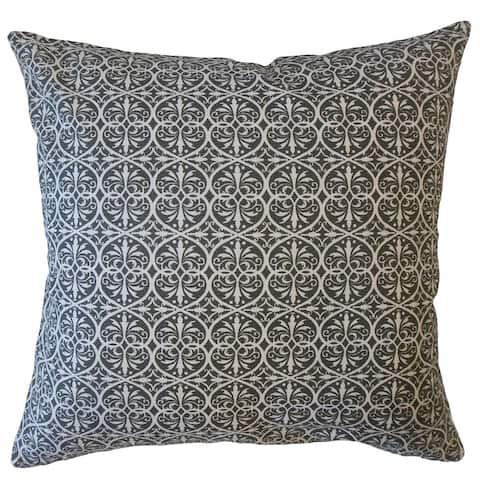 Kamber Damask Throw Pillow Graphite