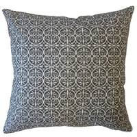 Kamber Damask Throw Pillow Graphite