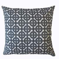 Quillon Geometric Throw Pillow Carbon