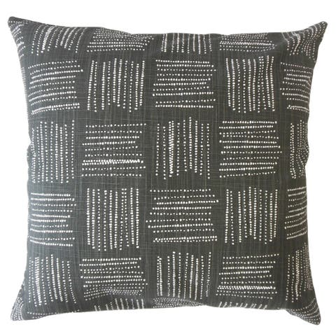 Maceo Geometric Throw Pillow Ink