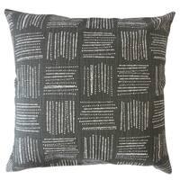 Maceo Geometric Throw Pillow Ink