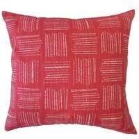 Maceo Geometric Throw Pillow Raspberry