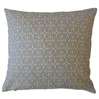 Kamber Damask Throw Pillow Pewter