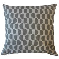 Xhosa Geometric Throw Pillow Light Grey