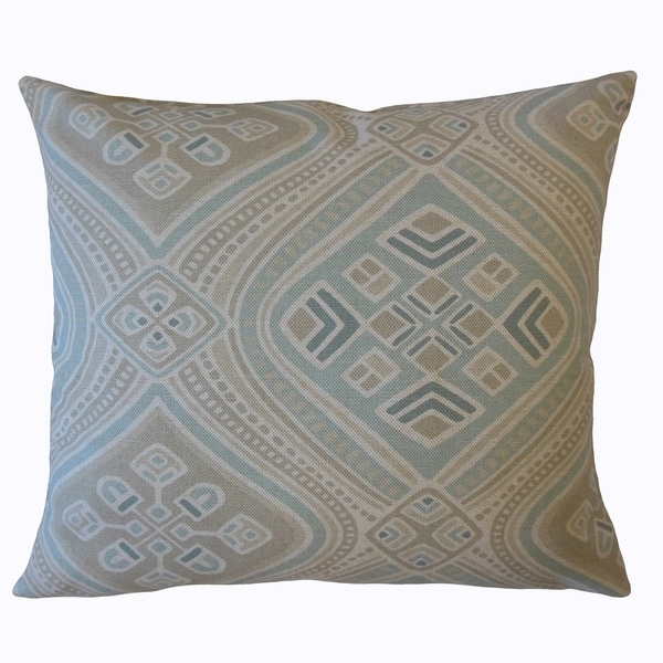 Yaxha Geometric Throw Pillow Seahaze