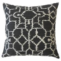 Neith Ikat Throw Pillow Ink